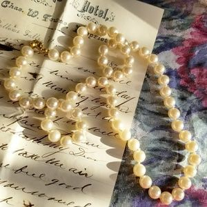 Vintage glass pearl strand individually knotted